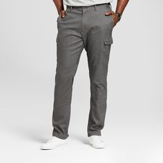 Men's Big & Tall Slim Fit Cargo Pants - Goodfellow & Co Gray 30X36