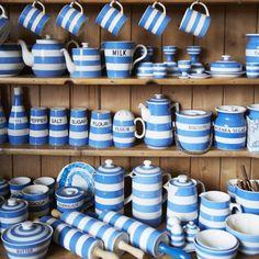 Cornishware blue stripes