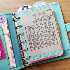Not too bad  so far #nospend #july #nospendjuly #calendar #journalingcard…