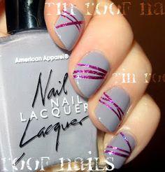 I'm Loving Grey Right Now #nails, #fashion, #pinsland, https://apps.facebook.com/yangutu