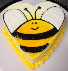 Bumblebee DQ mini heart ice cream cake