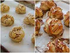 Kanelbullar - Dinner With Julie Quick Rolls, Parker House Rolls, Pearl Sugar, Sliced Almonds, Special Recipes, Dry Yeast, Christmas Morning, Holiday Baking, Cinnamon Rolls