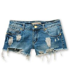 River Destructed Denim Shorts by Highway Jeans - Found on HeartThis.com @HeartThis | See item http://www.heartthis.com/product/246532547629661220?cid=pinterest
