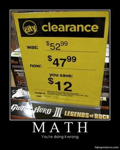 10 Real World Math Mistakes – Perfect for students to find the mistake! 10 Real World Math Mistakes – Perfect for students to find the mistake! – For Parents,Teachers, Scout Leaders & Really Just Everyone! Math Teacher, Math Classroom, Teaching Math, Teaching Ideas, Teacher Tips, Future Classroom, Teacher Humor, Teacher Stuff, Classroom Ideas