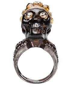 Stones Of Character Emerald Skull Ring - Church - farfetch.com