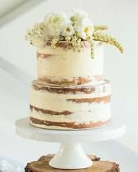 Image result for naked cake, 2 tier