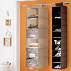 college dorm storage ideas - great for clothes when you have a small closet