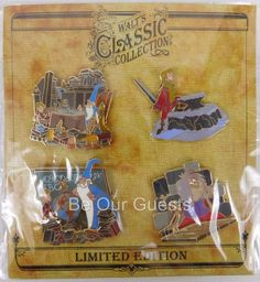 Disney Parks Walt Classic Collection Sword in the Stone Pin Set of 4 New LE 2000