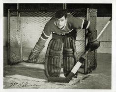 Bill Durnan - Montreal Women's Hockey, Hockey Players, Montreal Canadiens, Goalie Mask, Photo Hosting, Nhl, 1930s, Masks, The Past