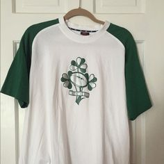 IRFU Rugby T-Shirt Canterbury New Zealand Green White Tee Top Womens XL