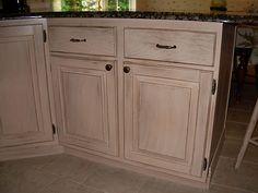 Image detail for -GALLERY: Antique Faux finish on oak cabinets