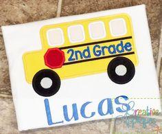 2nd grade bus applique $ REPIN THIS then click here: www.creativeappliques.com