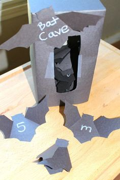Halloween Activities: Bat Cave Letters & Numbers, Mom Explores The Smokies Fall Preschool, Preschool Lessons, Preschool Activities, Bat Activities For Kids, Number Activities, Preschool Plans, Prek Literacy, Kindergarten Readiness, Preschool Alphabet