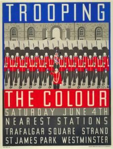Trooping the Colour Margaret Calkin James poster 1932 underground