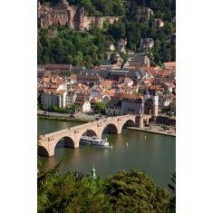 Fototapete Heidelberg, Philosophenweg, alte Brücke, Schloss, Neckar, Merian, Fotograf: A. F. Selbach, Fototapete schon ab 34,95€