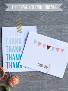 Thank You | free printables