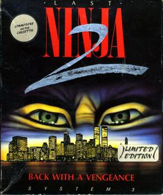 The Last Ninja 2 on the C64. The limited edition had a ninja mask and rubber shrunken included!