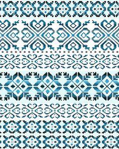 fair isle pattern 2 far midten Fair Isle Knitting Patterns, Knitting Charts, Knitting Stitches, Knitting Designs, Crochet Patterns, Motif Fair Isle, Fair Isle Chart, Fair Isle Pattern, Cross Stitch Embroidery