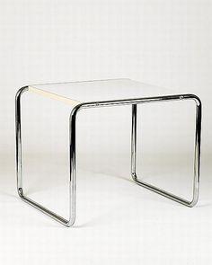 Marcel Breuer, two B9 side tables, chromed tubular steel and…