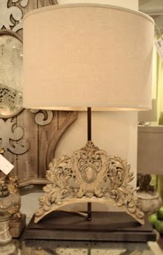 fragment lamp~ I would put a burlap or black shade on it