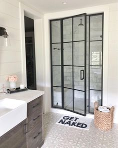 Are you looking for pictures for farmhouse bathroom? Check this out for amazing farmhouse bathroom inspiration. This unique farmhouse bathroom ideas seems to be absolutely brilliant. Modern Farmhouse Bathroom, Modern Farmhouse Style, Rustic Farmhouse, Farmhouse Interior, Farmhouse Design, Farmhouse Ideas, Farmhouse Shower Doors, Modern Shower Doors, Farmhouse Vanity