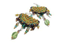 perlinedisaggezza rev crochet earrings