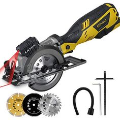 Get particular more details of Ginour Compact Electric Circular Saw Set, Circular Saw with Laser Guide, 3 Saw Blades and Scale Ruler Ideal for Wood, Soft Metal, Tile and Plastic Cuts Worm Drive Circular Saw, Mini Circular Saw, Compact Circular Saw, Circular Saw Reviews, Cordless Circular Saw, Electric Saw, Saw Tool, Hand Saw, Air Tools