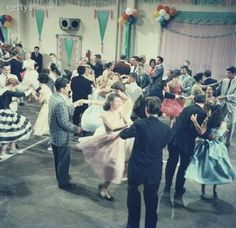 Gettyimages: Teenage couples dancing at party by FPG 50s Dance, Swing Dancing, Mom Dad Anniversary, 50s Sock Hop, Sock Hop Party, Teenage Couples, Shall We Dance, 50th Party, Happy Party
