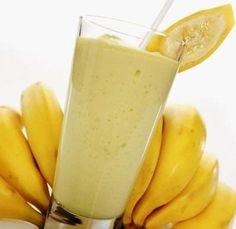Suco para a gastrite de banana e pera