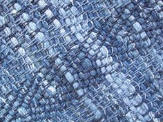 Rag Rug -  Denim   Recycled Blue Jeans. via Etsy