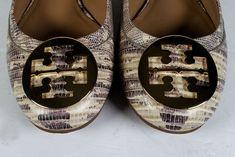 TORY BURCH SHOES 9 Flats Reva Teju Print Leather Ballet Flats *EXCELLENT* SZ 9 #ToryBurch #BalletFlats #Casual