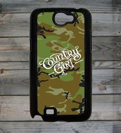 Country Girl ® Camo Logo Background Note 2 Phone Case/Cover  #Samsung #Galaxy2 #Smartphones #CountryGirl