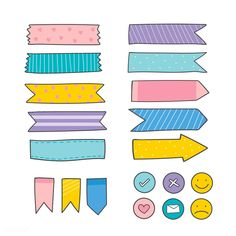 Discover thousands of free-copyright vectors on Freepik Bullet Journal Banner, Bullet Journal Notes, Journal Stickers, Printable Planner Stickers, Good Notes, Cute Notes, Budget Planer, Note Paper, Sticky Notes