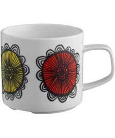 Buy Habitat Freda Floral Patterned Porcelain Mug - White at Argos.co.uk - Your Online Shop for Tea sets, mugs and accessories.