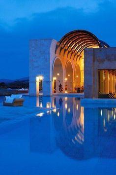 Castell blau a Grècia.
