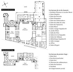 Elysee Palace Plan Architecture Floor Plans Palace