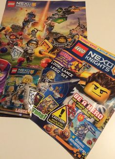 LEGO NEXO KNIGHTS magazine with free poster and minifigure