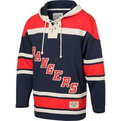 New York Rangers Navy Old Time Hockey Lace Up Jersey Hooded Sweatshirt   109.99 http   0d56fa59c1d