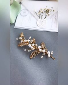 Hair Bun Videos With Flowers Bridal Comb, Bridal Headpieces, Bridal Hair, Bride Tiara, Bride Earrings, Bridesmaid Accessories, Flower Headpiece, Hair Vine, Bun Hairstyles