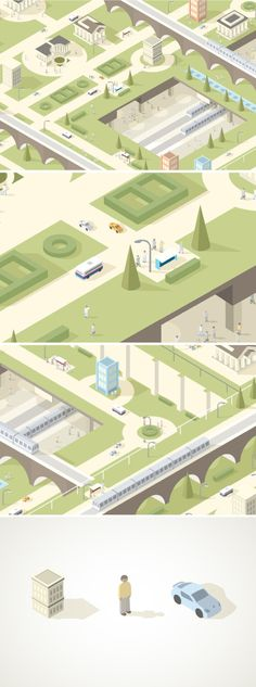 Nice color palette and smooth style on this isometric illustration.