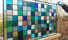 Stained Glass Window Panel Cool Shades II by TerrazaStainedGlass, $325.00