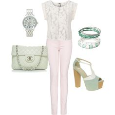Pastels - Fashion created by aracely26 on Polyvore