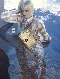 Toni Garrn by Camilla Akrans for Blumarine Spring Summer 2014