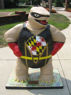 Terpedo - Fear the Turtle statue - #UMD #Terps