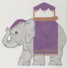 Needlepoint Elephant Canvases