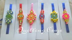 Jewerly Making Ideas Earrings Christmas Gifts New Ideas Quilling Paper Craft, Quilling Flowers, Hobbies And Crafts, Diy And Crafts, Quilling Rakhi, Handmade Rakhi Designs, Rakhi Making, Silk Thread Necklace, Quilling Earrings