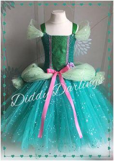 Ariel Ballgown Tutu Dress. Little Mermaid Tutu by DiddyDarlings