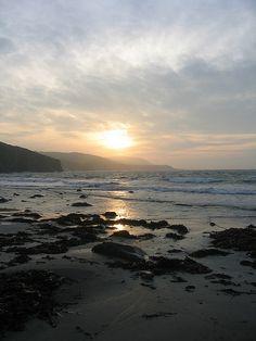 Luce Bay Scotland sunrise