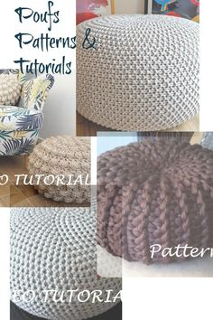 Pouf pouffe patterns and tutorial, easy for beginners #pouf #patterns #poufpattern #affiliate