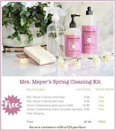 It's Time! The Free Mrs. Meyer's Cleaning Kit is Here! #free #mrsmeyers #kitchen